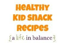 { Healthy Kid Snack Recipes } / Healthy Kid Snack Recipes (http://www.alifeinbalance.net) / by Barb Hoyer: A Life in Balance
