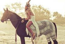 Bohemian Horse / Tack and horsecare inspirations and pics... <3  #horse #riding #tribal #bohemian