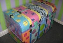 Furniture- Painted, Decorated, Unique / I have a lot of furniture I want to paint and these are some of my ideas and hopes. / by Terri W