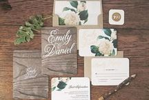 Wedding Stationary / Wedding Invites / by Eve & Love Co.
