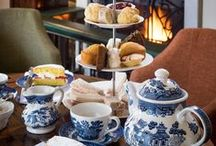 The English Tea Party / My mother often brought a tray of tea, cheese and crackers to my father and me before bedtime. I still drink tea with milk and sugar. My favorite tea parties are for children, but any occasion becomes special with a pretty tea cup. Won't you join me?