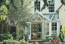 """The English Conservatory / """"Most people think of a conservatory as a place for the preservation of plants, but for the majority of owners today - since the 18th century in fact, when glass ceased to be a luxury, and large windows and glazed roofs became feasible - they are much more"""" The Book of the Conservatory -Peter Marston"""