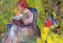 The Art of a Reader / I am always drawn to art that captures the reader. What would my life be if I couldn't read (and write). Though not hung on my wall, I now have a lovely collection of this subject in my Pinterest collection.