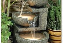Water Features / Every garden needs a water feature….the sound of water you can hear through an open window, sitting near a pool on a hot summer day…water in the garden is a soothing balm for the gardeners soul. This board is full of ideas to fit every gardens needs and a gardener's purse strings.