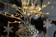 Christmas Flower Arranging / Never underestimate how important a container is to any floral design. Throughout this holy season, use your best china bowl, antique cake stand, your Grandmother's urn; still your heart, and be creative.