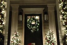 Christmas Exterior Decorating / A wreathed garland of deserved praise,/Of praise deserved,/unto thee I give,/I give to thee, who knowest all my wayes,/My crooked winding wayes, wherein I live...George Herbert-poet