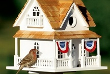 Bird Houses  / In the garden, the architecture of the birdhouse represents another art form I admire. The pins I'm interested in are not cutesy, but a woodworkers passion.