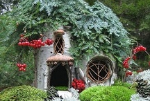 Fairy Cottages / I have loved dollhouses all my life. Now into this miniature world comes Fairy Houses that are so charming and fanciful. I wish my Dad were still alive. He would have made me one in his basement shop. Looks like a great grandfather project. Maybe a birdhouse conversion? Would LOVE one of these cottages on this board for my beautiful garden.