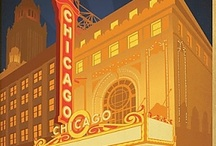 Chicago Vintage Posters / I grew up on the North Shore along the lake; Chicago was a big part of that life. To this day it is a place called home. I wish I had collected these wonderful art posters  realizing all these years later how wonderful they are. At least on Pinterest I have them to enjoy.
