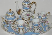 """Collecting Miniature Tea Sets / My parents began collecting porcelain in the late 40""""s and among the beautiful things were miniature tea sets. As an only child, they have come to me. Pinterest allows pinners to collect these exquisite little pieces."""