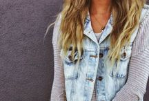 • jeans + chambray {style} • / Shopping is cheaper then a psychiatrist.