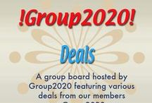 !Group2020! Deals / A group board hosted by Group2020 featuring deals from our members. Please check the details for dates each deal is active -- www.Group2020.com