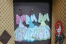 Paper Doll Tags / I loved paper dolls when I was a little girl. I have collected them over the years. This new paper craft that lets me play again.