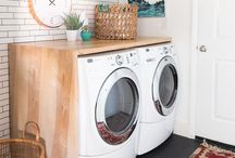 Laundry Room Love / Laundry room inspiration photos..Gotta be in there all the time. Might as well love what it looks like..