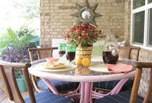 Back Porch / Back porch decor ideas / outside living