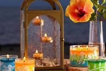 Summer at PartyLite Canada / PartyLite's new fragrances are a celebration for the senses – mouth-watering Guava Caipirinha, lush Tropical Flower, sultry Copacabana Beach and exotic Samba Sunset. Experience complimentary decor designed to transport you to the best of summer.