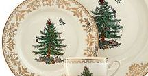 Christmas China / Start early! Every year give a place setting of Christmas China to a young person in your life. By the time they are ready to leave home, they will have enough to set a beautiful Christmas table. They will always remember your love.