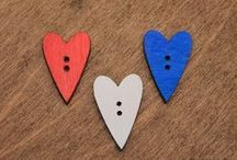 Barbaral Creations hand painted wooden buttons