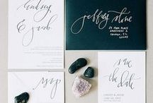 Wedding: Paper Goods  / The wonderful world of letterpress, calligraphy, custom design and beautiful paper.