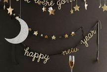 Snowflakes and New Resolutions / New Years Eve and January decor, crafts and party ideas