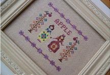 Cross stitch designs with my threads