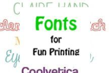 Font Frenzy / Lots of fun fonts to consider for your ribbon printer designs