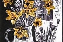 Art + Printmaking / Pertaining to ... not limited to ... screen print, linocut + wood block / by Kris Marie