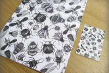 Bespoke Wrapping Paper from A Local Printer / Beautifully eco printed bespoke wrapping paper, from A Local Printer