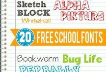 Fonts for School