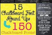 Fonts - Chalkboard