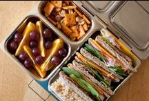 PlanetBox | Launch Meals / The PlanetBox Launch is intended for those with bigger appetites who want larger serving sizes. The Launch holds 30% more than the Rover at nearly 6.5 cups of food, and is designed to hold a 3 course meal.