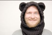 Man's hats, knitted&crochet