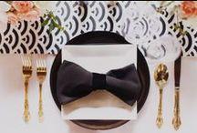 Black White & Gold Fairmont Wedding