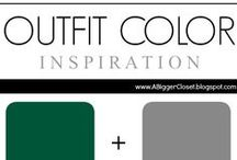 :: Green & Grey :: Outfit Ideas / Green and grey outfit ideas for fall and winter and spring and summer.