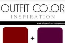 :: Red & Purple :: Outfit Ideas / Outfit color combinations featuring all shades of red and purple for fall and winter and spring and summer.