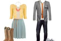 Wardrobe Inspiration / Inspiration for just what to wear for engagement portrait sessions.