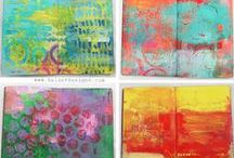 Gelli Plate ideas / Videos, tutorials, etc.