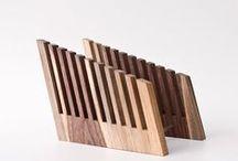 lessandmore office / minimal wooden office storage