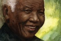 Tribute To Nelson Mandela / Tribute to Nelson Rolihlahla Mandela 18 July 1918 – 5 December 2013 - photo's, art and quotes, inspiration -