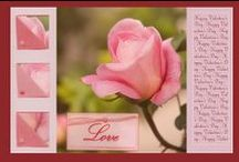 My friendship, love and Valentine's Day cards / Roses, pairs of animals, birds, flowers, Special designs, Valentine cards, friendship cards ... blank inside, or with verse... All great cards useful also for Valentine's Day