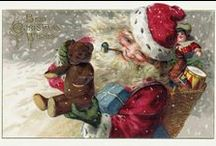 Christmas Cards / These are some of the reproduction cards I make from vintage ephemera for use as Christmas cards. / by KatyDids Cards