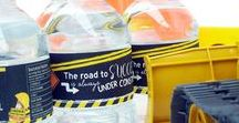 Road Crew Party / What's more fun than a road crew? Whether you've chosen road construction as the theme for your child's next birthday party, a baby shower, or a back to school theme, here are some ideas to get you started with tutorials and resources linked throughout. Dig in!