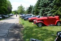 Events at Pedal and Cup / All summer long we have events at Pedal and Cup. Historic car shows, poker runs with pedal bikes and Harleys, and fund raisers.  Give us a call and we can let you know when the next event is.  262-249-1111