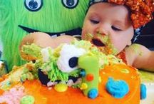 """BIRTHDAY - BABY MONSTER BASH PARTY IDEAS / Make a wish and dream big only if your """"Mimi"""" is a party planner! Cute ideas for a 1st birthday party on Halloween!! / by Omni Productions Inc"""