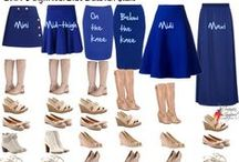 FASHIONS - HOW TO WEAR SKIRTS / It's all about skirts / by Omni Productions Inc