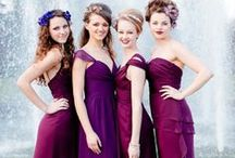 Purple Weddings / Bridal Gown Inspirations for Purple weddings and Amethyst Weddings and Lilac Weddings. Wedding gowns, Bridesmaid Gowns, Bridal Cakes, Weddings Flowers