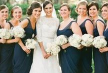 Navy Weddings / Bridal Gown Inspirations for Navy weddings and Dark Blue Weddings. Wedding gowns, Bridesmaid Gowns, Bridal Cakes, Weddings Flowers