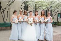 Blue Weddings / Bridal Gown Inspirations for Powder Blue weddings and Blue Weddings. Wedding gowns, Bridesmaid Gowns, Bridal Cakes, Weddings Flowers