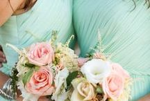 Mint Weddings / Bridal Gown Inspirations for Mint weddings and Sea Foam Weddings. Wedding gowns, Bridesmaid Gowns, Bridal Cakes, Weddings Flowers