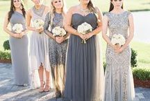 Mismatched Bridesmaids / Bridesmaid Inspirations for Mismatched Bridesmaid dresses and Different style Bridesmaids. Wedding gowns, Bridesmaid Gowns, Bridal Cakes, Weddings Flowers